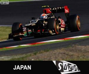 puzzel Romain Grosjean - Lotus - Grand Prix van Japan 2013, 3e ingedeeld