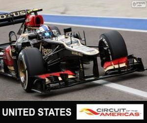 puzzel Romain Grosjean - Lotus - Grand Prix van Verenigde Staten 2013, 2º ingedeeld