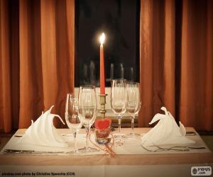 puzzel Romantisch diner