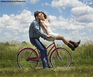 puzzel Romantische fietstocht