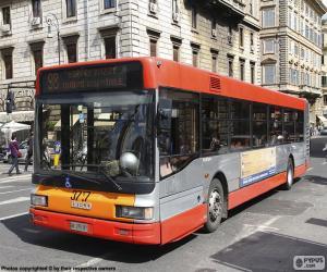 puzzel Rome stedelijke bus