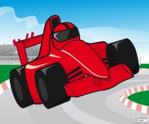 puzzel Rood F1 racing auto