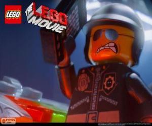 puzzel Rot Agent, de slechte politie, de politieagent van de Lego-film