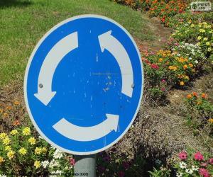puzzel Rotonde sign