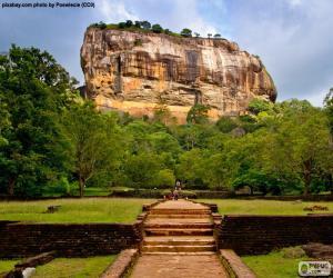 puzzel Rots van Sigiriya, Sri Lanka