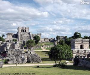 puzzel Ruïnes van Tulum, Mexico