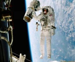 puzzel Ruimte missie astronaut
