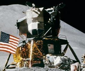 puzzel Ruimtevaartuigen is geland op de verre planeet