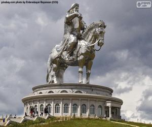 puzzel Ruiterstandbeeld van Dzjengis Khan, Mongolië