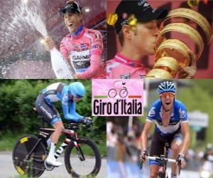 puzzel Ryder Hesjedal, winnaar van de Giro Italië 2012