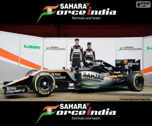 puzzel Sahara Force India F1 2016
