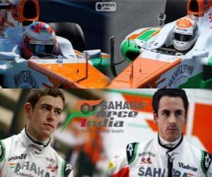 puzzel Sahara Force India F1 Team 2013