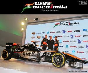 puzzel Sahara Force India F1-team van 2015