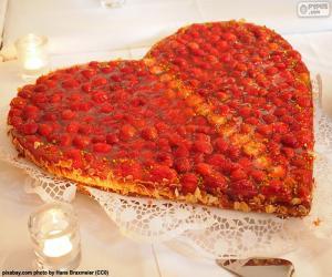 puzzel Saint Valentine taart