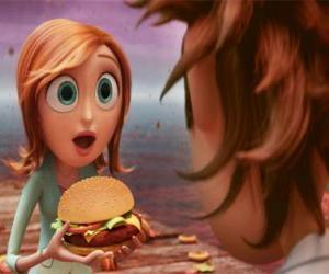 puzzel Sam Flint verrast leert een hamburger