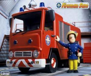 puzzel Sam naast Jupiter de brandweerauto