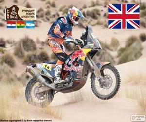 puzzel Sam Sunderland, Dakar 2017