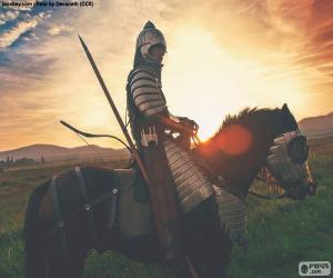 puzzel Samurai te paard