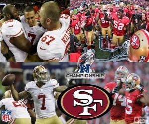 puzzel San Francisco 49ers NFC kampioen 2012