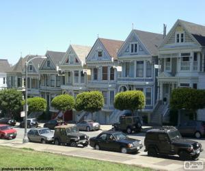 puzzel San Francisco Victoriaanse huizen
