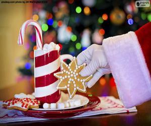 puzzel Santa Claus en snoep