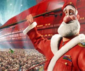 puzzel Santa Claus of Kerstman, de vader van Arthur Kerstmis