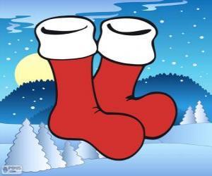 puzzel Santa Claus sokken