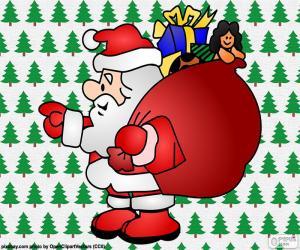 puzzel Santa Claus, tekening