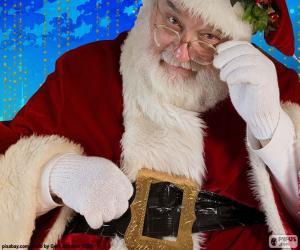 puzzel Santa Claus waargenomen