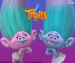 puzzel Satijn en Chanille, de twin