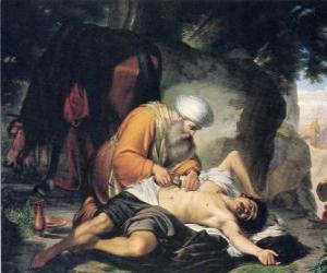 puzzel Scène uit de gelijkenis van de barmhartige Samaritaan