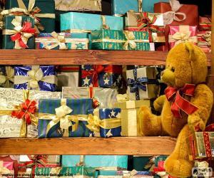 puzzel Schappen vol geschenken