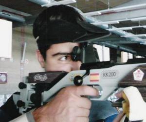 puzzel Schietsport - Rifle shooter in actie