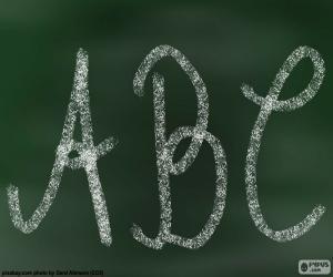 puzzel Schoolbord, ABC