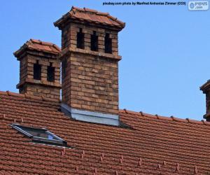 puzzel Schoorstenen van een huis