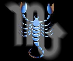 puzzel Schorpioen. De schorpioen. Achtste teken van de dierenriem. Latijnse naam is Scorpius