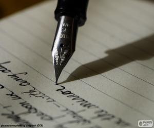 puzzel Schrijven met een vulpen