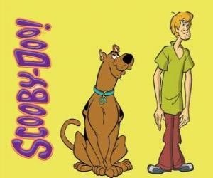 puzzel Scooby-Doo en Shaggy, twee vrienden