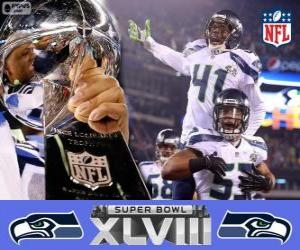 puzzel Seattle Seahawks, Super Bowl 2014 Kampioenen