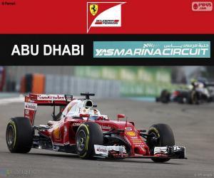 puzzel Sebastian Vettel, Grand Prix van Abu Dhabi 2016