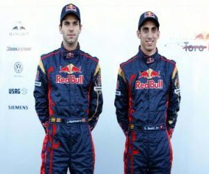 puzzel Sebastien Buemi en Alguersuari, Scuderia Toro Rosso F1