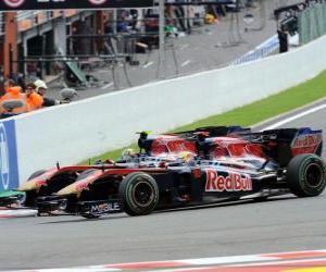 puzzel Sebastien Buemi, Jaime Alguersuari - Toro Rosso - Spa-Francorchamps 2010