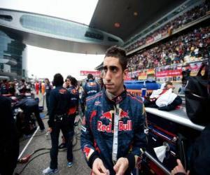 puzzel Sebastien Buemi - Toro Rosso - Shanghai 2010