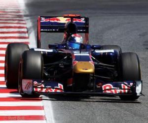 puzzel Sebastien Buemi - Toro Rosso - Barcelona 2011