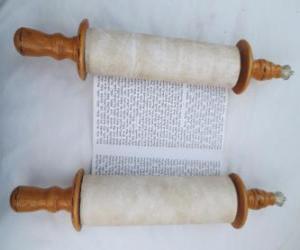 puzzel Sefer Torah, een rol van de Thora