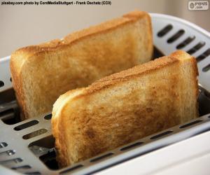 puzzel Segmenten in de broodrooster