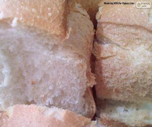 puzzel Segmenten van wit brood