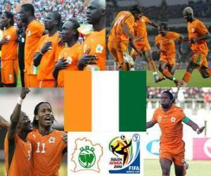 puzzel Selectie Ivoorkust, Groep G, Zuid-Afrika 2010