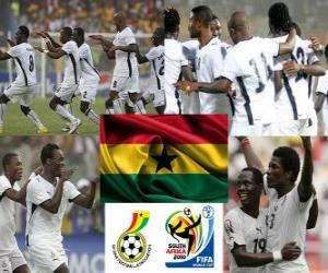 puzzel Selectie van Ghana, Groep D, Zuid-Afrika 2010