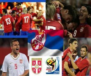 puzzel Selectie van Servië, Groep D, Zuid-Afrika 2010